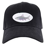 Congo Barb Inverse Line Draw Black Cap With Patch