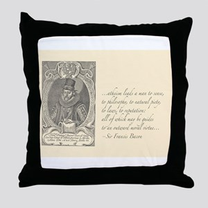 Bacon Atheism Throw Pillow