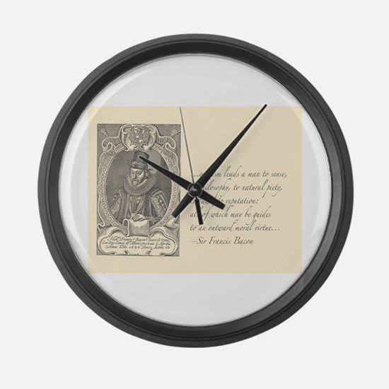 Bacon Atheism Large Wall Clock