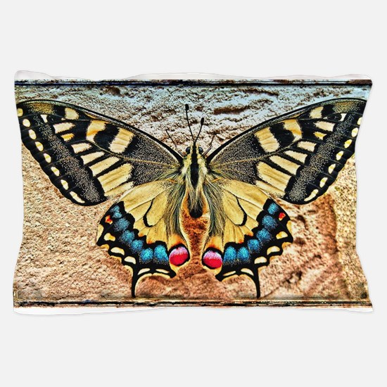 butterfly colorful art design Pillow Case