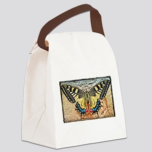 butterfly colorful art design Canvas Lunch Bag