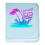 I Survived Hurricane Dorian baby blanket