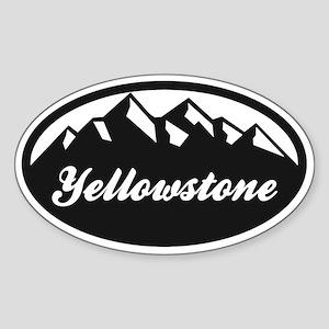 Yellowstone Oval Sticker Sticker (Oval)