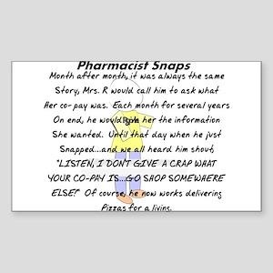 Pharmacist Story Art Sticker (Rectangle 10 pk)