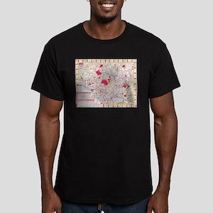 Vintage Map of Tokyo Japan (1880) T-Shirt