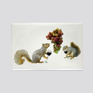 Squirrels Wine Tasting Rectangle Magnet