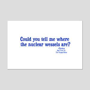 Star Trek Chekov Nuclear Wessels Mini Poster Print