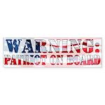 Warning: Patriot on Board (Bumper)