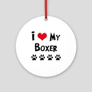 Boxer Ornament (Round)
