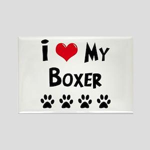 Boxer Rectangle Magnet