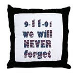 9/11 Never Forget Throw Pillow