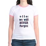 9/11 Never Forget Jr. Ringer T-Shirt