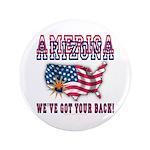"""Arizona - America 3.5"""" Button"""