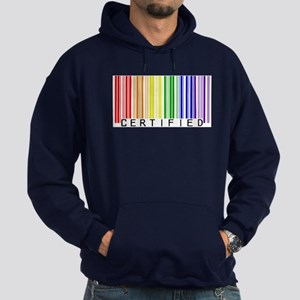 Certified Rainbow Bar Code Hoodie (dark)