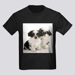 Shih Tzu Puppy Kids Dark T-Shirt