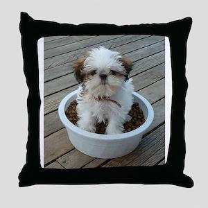 Shih Tzu Puppy Throw Pillow