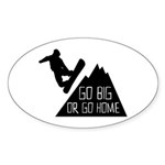Go Big Snowboarder Sticker (10 pk)