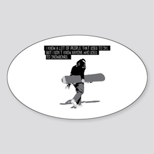 Snowboarding Quote Sticker (Oval)