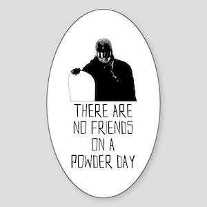 Powder Day Snowboarder Sticker (Oval)