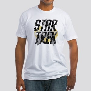 Star Trek logo (worn look) Fitted T-Shirt