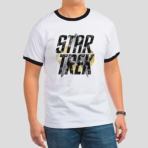 Star Trek logo (worn look) Ringer T