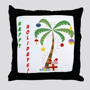 Holiday Palm Tree Throw Pillow