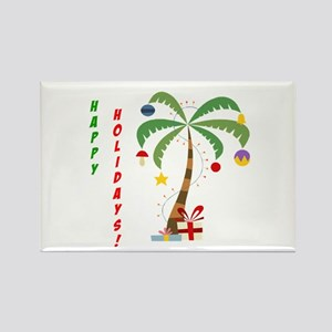 Holiday Palm Tree Rectangle Magnet