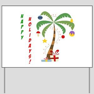 Holiday Palm Tree Yard Sign