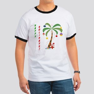 Holiday Palm Tree Ringer T