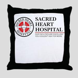 Sacred Heart Hospital Throw Pillow