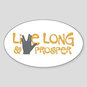 Live Long & Prosper Sticker (Oval)