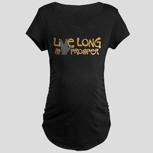 Live Long & Prosper Maternity Dark T-Shirt