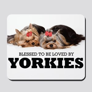 Blessed By Yorkies Mousepad