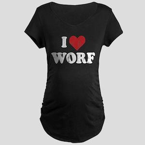 Star Trek: I Heart Worf Maternity Dark T-Shirt