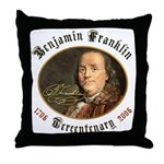 Benjamin Franklin Tercentenary Throw Pillow