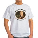 Benjamin Franklin Tercentenary Ash Grey T-Shirt