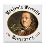 Benjamin Franklin Tercentenary Tile Coaster