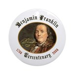 Benjamin Franklin Tercentenary Ornament (Round)
