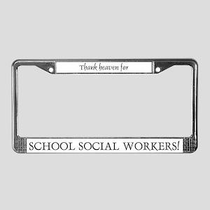 Thank Heaven School SW BRT License Plate Frame