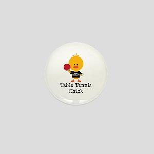 Table Tennis Chick Mini Button