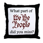 What part of We the People di Throw Pillow