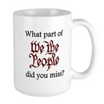 What part of We the People di Large Mug