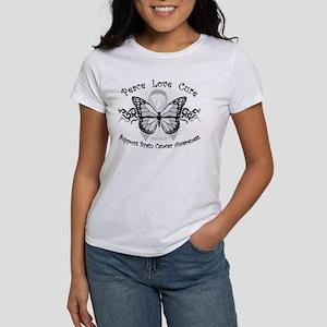 Brain Cancer Tribal Butterfly Women's T-Shirt