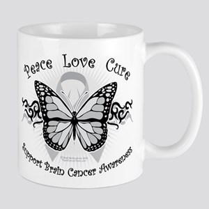 Brain Cancer Tribal Butterfly Mug