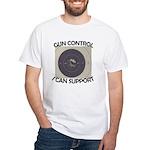 Gun Control White T-Shirt