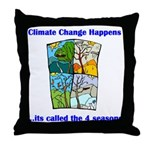 Climate Change Happens Throw Pillow