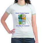 Climate Change Happens Jr. Ringer T-Shirt