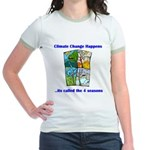 Climate Change Happens Jr. Ringer T-Shirt