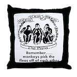 Fleas Throw Pillow
