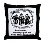 Fleas Throw Pillow